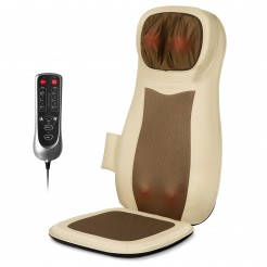 Naipo Neck & Back Massager with Heat and Vibration (Beige)